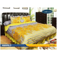 Sprei Rumbai King California motif Amarilo