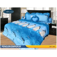 Sprei Rumbai King California motif Penguin Emperor