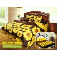Sprei Rumbai King California motif Sun Flower