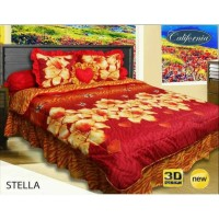 Sprei Rumbai King California motif Stella