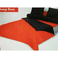 Sprei Queen Shyra Katun CVC Polos Orange Brave