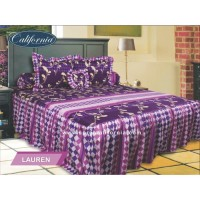 Sprei Rumbai King California motif Lauren