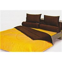 Sprei King Shyra Katun CVC Polos New Golden Yellow