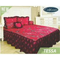 Sprei Rumbai King California motif Tessa