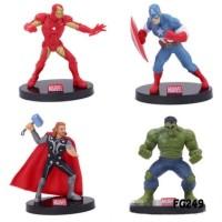 Marvel The Avengers Action Figure Set 4 Mainan Pajangan Miniatur FG249