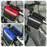 Tas perlengkapan aksesoris sepeda frame dual bag
