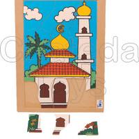 Puzzle Masjid Mainan Edukasi Islam Chateda Toys!