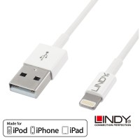 LINDY MFI Certificate USB to Lightning Cable for Iphone, 1m