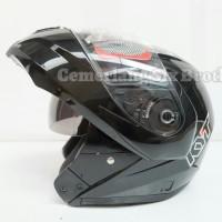 Helm KYT RRX Modular Full Face Gunmetal Flip Up Grey Full Visor