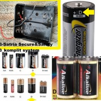Tempat Baterai D x2 Battery Holder Case Batere D Besar Kotak Batre