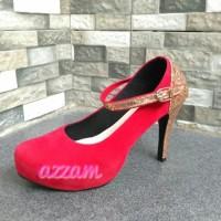 Sale Sepatu Wanita Highheels Red Cheryl / Heels Pesta Murah Terbatas