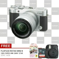 Fujifilm X-A3 kit XC 16-50mm free instax 8+shinty star+SDHC 16 GB