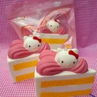 Squishy Jumbo Hello kitty slice cake