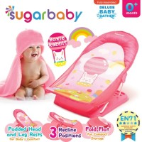 Sugar Baby Deluxe Baby Bather Roxie Rabbit Pink Alas Dudukan Mandi Bay
