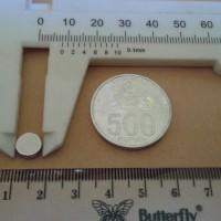 N52 Uk 8x3 mm Magnet Super Strong / Kuat Neodymium 8x3 mm Bulat Coin