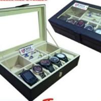 Box jam tangan Slot 6+Slot aksesoris (Cincin,Gelang,Kalung)