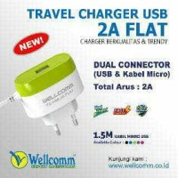 Travel Charger USB 2A Flat Wellcomm