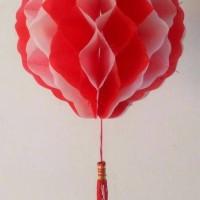 Lampion pv merah putih 8' / Hiasan 17 agustus