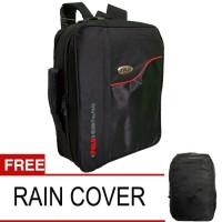 Tas Ransel Polo Essential Backpack 3 In 1 - Hitam + Gratis Rain Cover