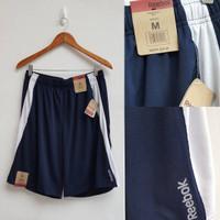 Celana training REEBOK Mens Dry Shorts Navy White 100% Original