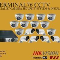 PAKET MURAH CCTV HIKVISION 2MP 16 CHANNEL FULL HD KOMPLIT SIAP PASANG