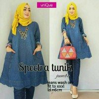 Spectra Tunik bahan jeans washed fit to XXL