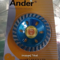 "DIAMOND CUP WHEEL GRINDING CUP MATA GERINDA TURBO 4"" ANDER"