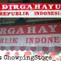 Banner Flag / Bunting Flag / Tirai Rumbai HUT RI / DIRGAHAYU RI