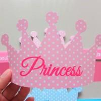 Topi Ultah Princess Prince