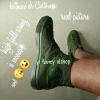 sepatu converse one/ all star hi chuck taylor full army 100% original