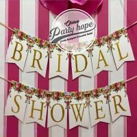banner bridal shower / bunting flag bridal shower / banner bride to be