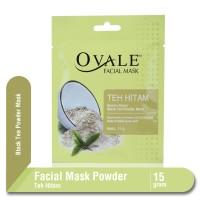 Ovale Facial Mask Powder Teh Hitam Sachet 15 gr