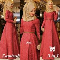 Zamirah Hijab Maxi 3in1 Marun