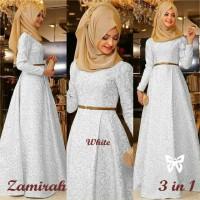 Zamirah Hijab Maxi 3in1 White