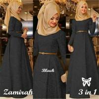Zamirah Hijab Maxi 3in1 black