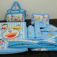 matras set selimut topi Doraemon/perlengkapan bayi