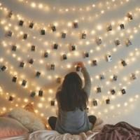 Lampu tidur dekorasi kamar / led warm White