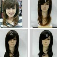 wig shaggy panjang sedang rambut palsu