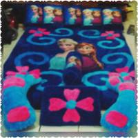 Karpet bulu rasfur print fullset (frozen)