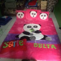 Karpet matras bulu rasfur karakter panda