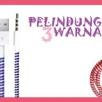 Pelindung Kabel Tali Spiral 3 Warna Tone Solid Transparan Cord 905577