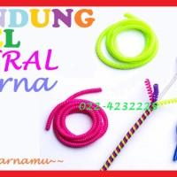 Pelindung Kabel Tali Spiral 1 Warna Tone Solid Transparan Cord 902150