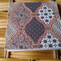 Kartu Ucapan Batik76 Motif Sidoluhur Coklat Handmade Istimewa Mini