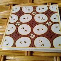 Kartu Ucapan Batik76 Motif Kawung Klasik Coklat Handmade Istimewa Mini