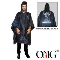 Jas Hujan Poncho Batman Raincoat OMG 100% PVC Waterproof Scotlight OMG - Hitam