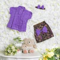 kebaya bayi / kebaya kutu baru / kebaya anak perempuan / ungu