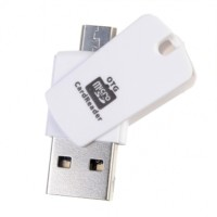 TERBARU !! OTG Smart Card Reader Connection Kit USB micro sd Flash