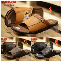 SANDAL PRIA CASUAL TRENDY KICKERS SLOPE CONCEPT GENUINE LEATHER
