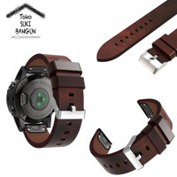 Garmin Fenix 5 QUICK FIT PU Leather Tali Jam Kulit Watch Band Strap