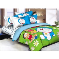 Pantone Doraemon Garden Sprei dan Bed Cover - King Set
